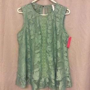 New Green Lace Top (XL)